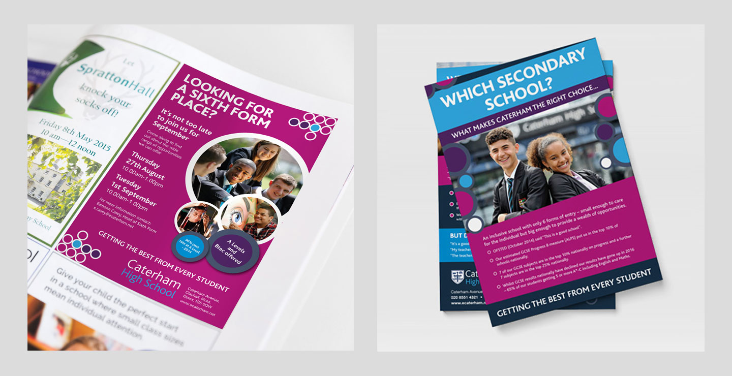Leaflet and advertising designs