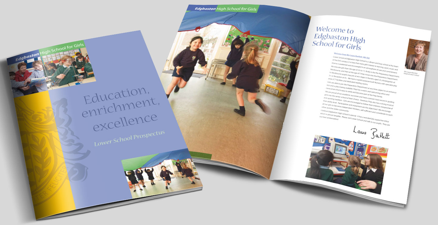 Lower school prospectus design