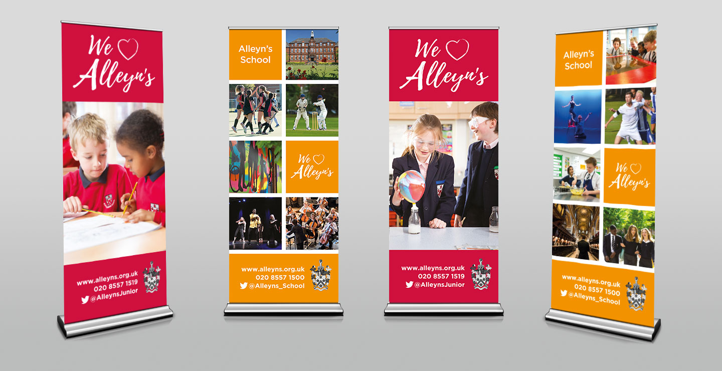 school pop up banner design
