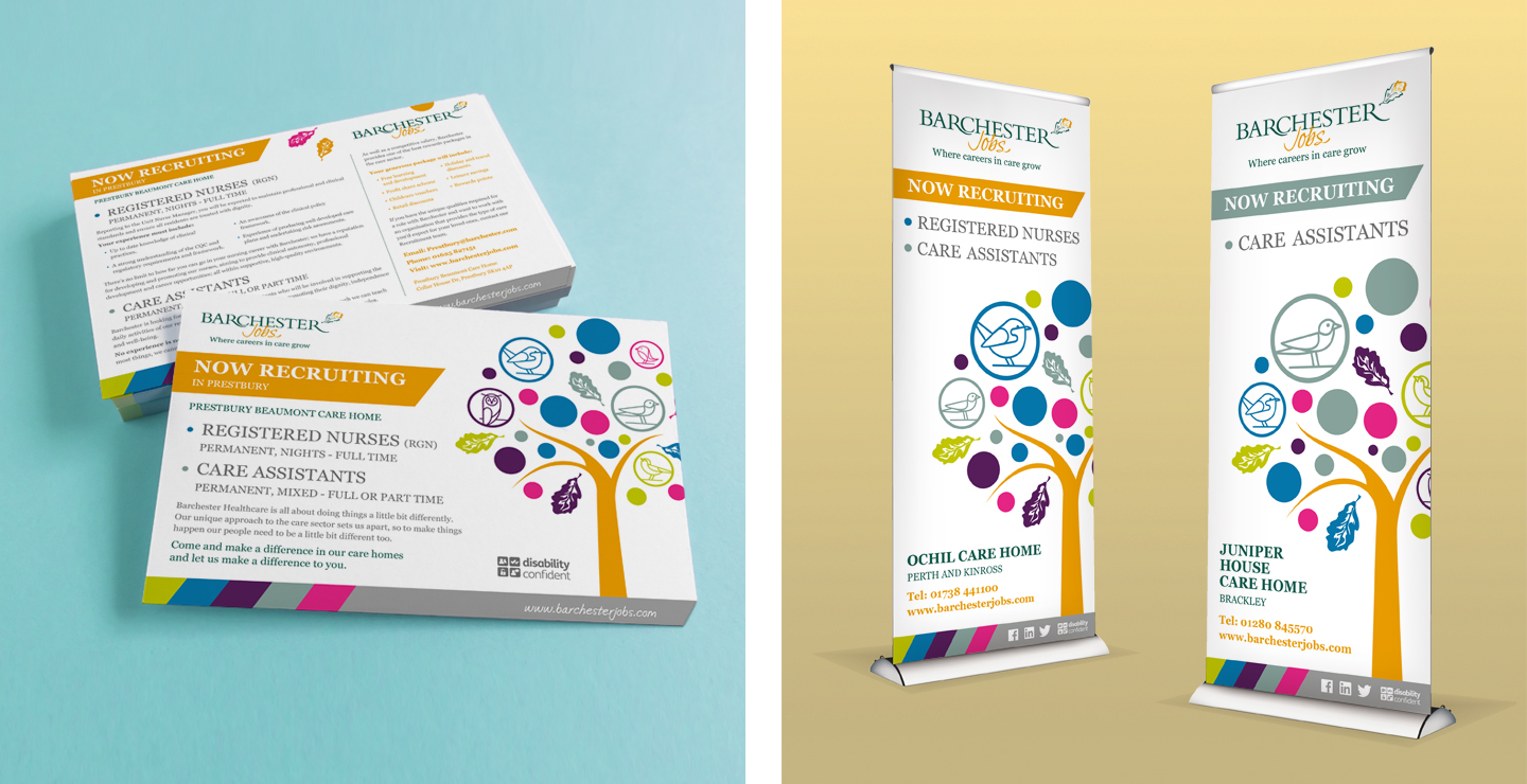 Pop up banner design and leaflet design
