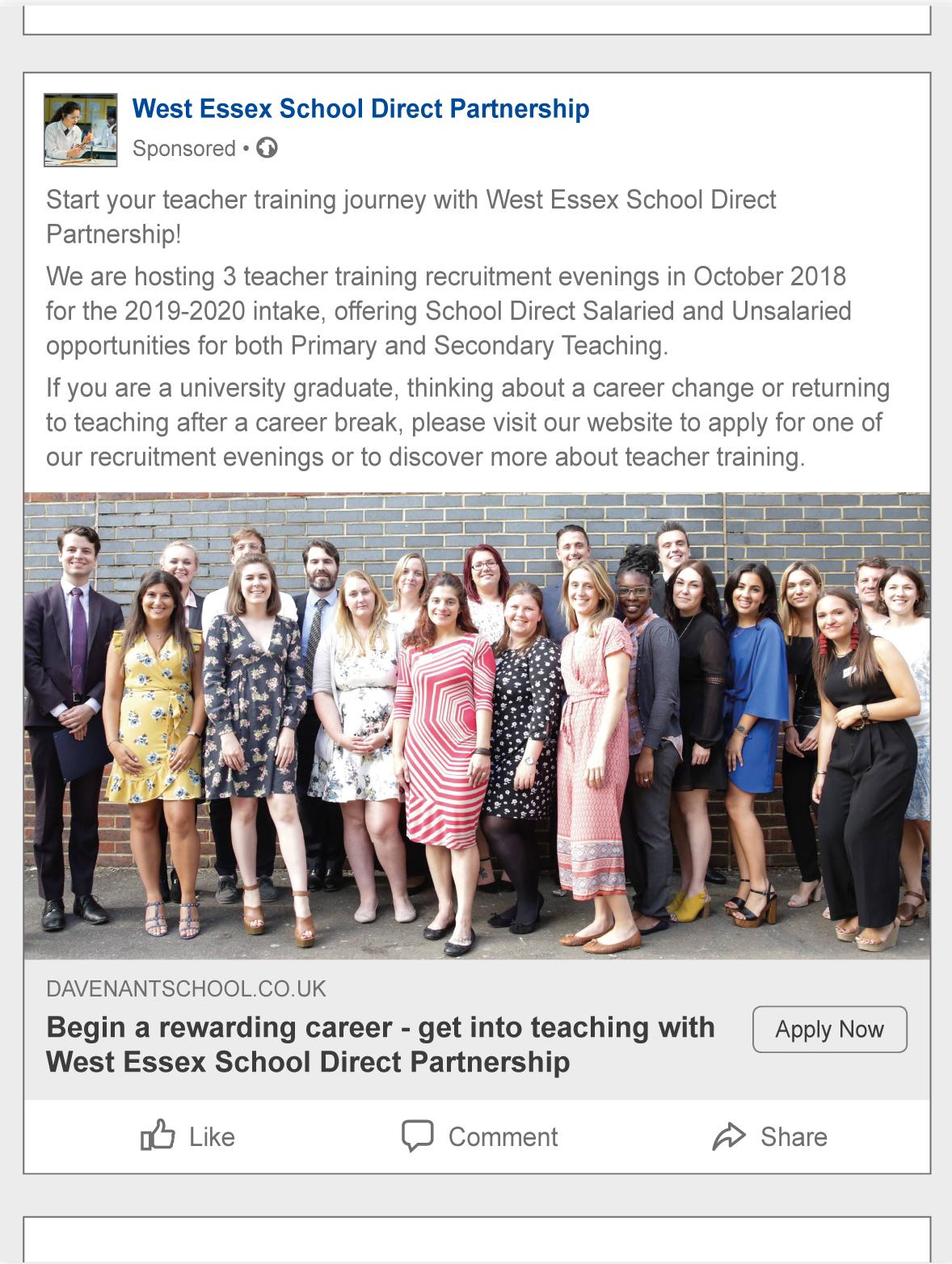 West Essex School Direct Partnership - WSA - The