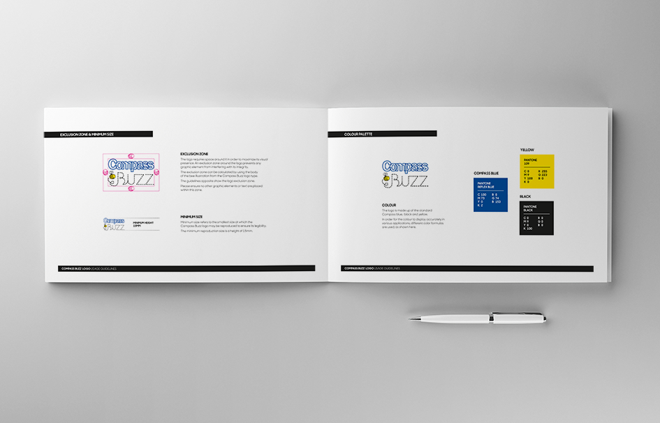 Compass brand guidelines created by WSA