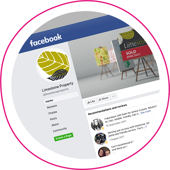 Example of Facebook account managed by WSA