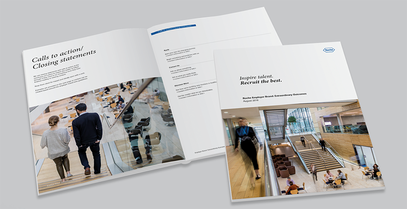 Design materials created by WSA for the Roche campaign