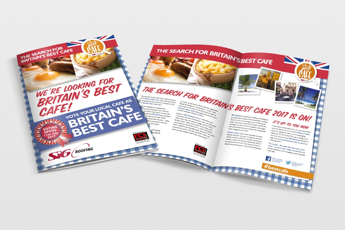 IRRV magazine featuring 'Britain's Best Cafe' creative