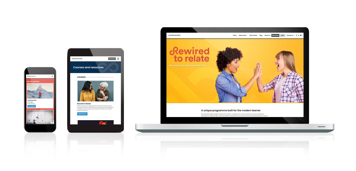 shooksvensen website displayed on laptop, tablet and phone